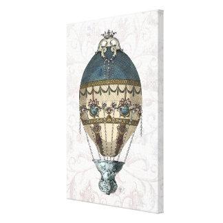 Barocka ballongblått & kräm canvastryck