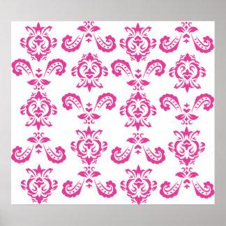 Barockt rosatryck poster