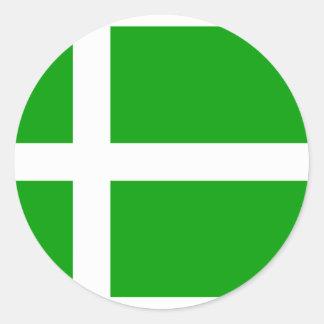 Barra United Kingdom flagga Runt Klistermärke