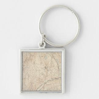Barre Massachusetts Fyrkantig Silverfärgad Nyckelring
