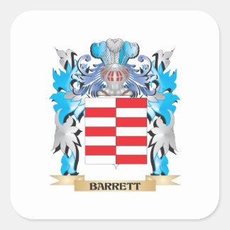 Barrett vapensköld fyrkantigt klistermärke