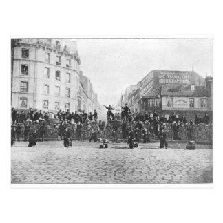 Barrikad på Faubourgen Sanktt-Antoine Vykort