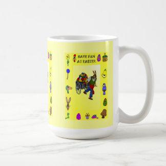 Barrowfullt av ägg kaffemugg