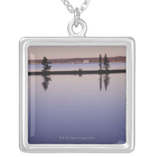 Barrträdträd, Yellowstone sjö Silverpläterat Halsband