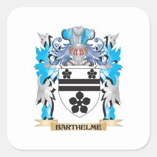 Barthelme vapensköld fyrkantigt klistermärke