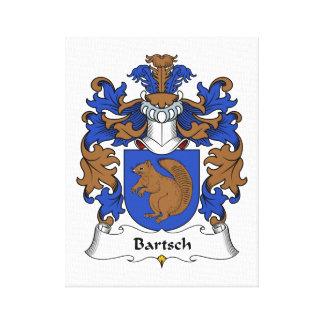 Bartsch familjvapensköld canvastryck