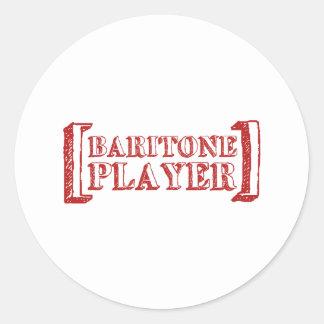 Baryton- spelare rund klistermärke