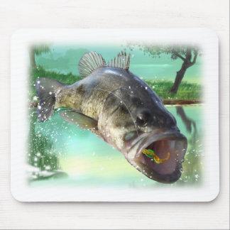 bas- fiskgrönt musmatta