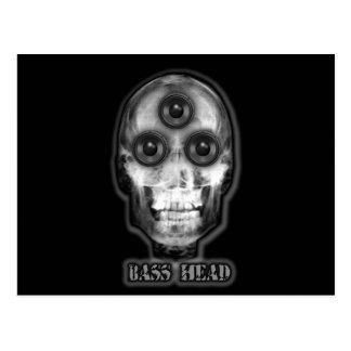 BAS- HEAD Dubstep konstnär Vykort