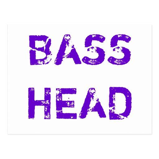 Bas- Head vykort (purpurfärgad text)