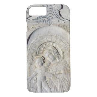 Bas-lättnad av en Madonna och ett barn (marmor)