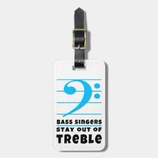 Bas- sångarestag ut ur Treble Bagagebricka