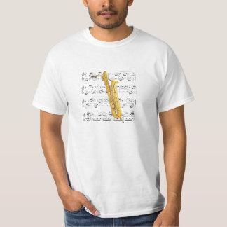 Bas- saxofon för skjorta (tända) - - välj din färg tee