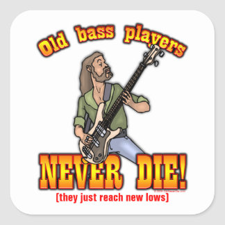 Bas- spelare fyrkantigt klistermärke