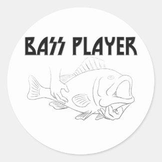 Bas- spelare runda klistermärken