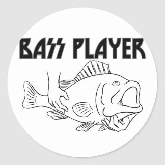 Bas- spelare runt klistermärke