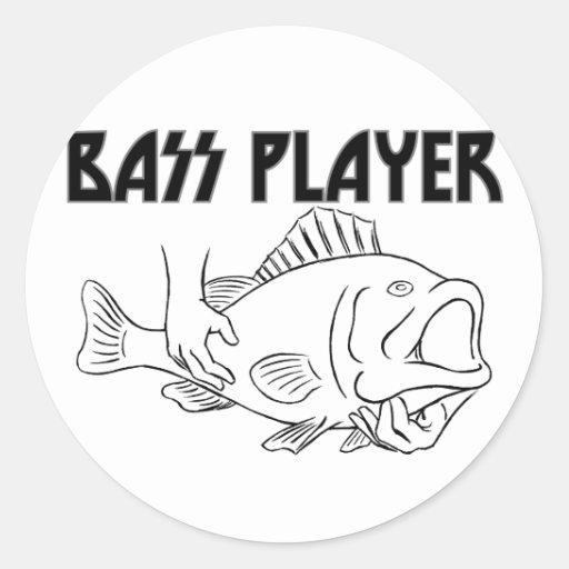 Bas- spelare rund klistermärke