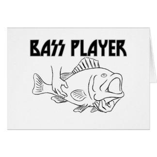 Bas- spelare hälsningskort
