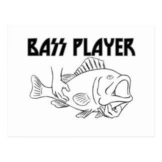 Bas- spelare vykort