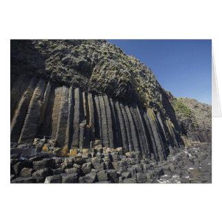 Basaltkolonner vid Fingals grotta, Staffa, av Hälsningskort