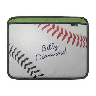 Baseball_Color Laces_rd_bk_autograph stil 1 MacBook Air Sleeve