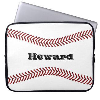 Baseball- eller softballdesignlaptop sleeve 15