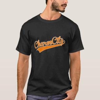 Baseball för berlockstaden (Baltimore) skrivar - T Shirts