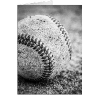 Baseball i svartvitt hälsningskort