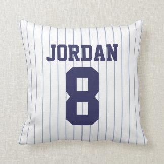 Baseball Jersey med numrerar Kudde