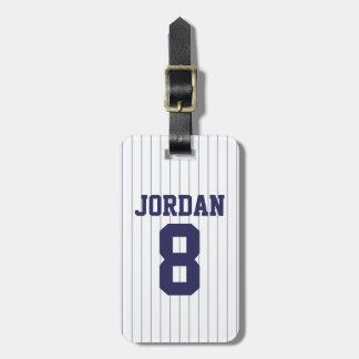 Baseball Jersey med numrerar Lappar För Bagaget