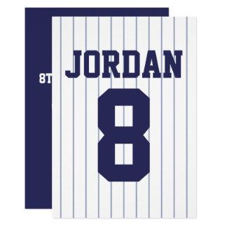 Baseball Jersey - sporttemafödelsedagsfest 12,7 X 17,8 Cm Inbjudningskort