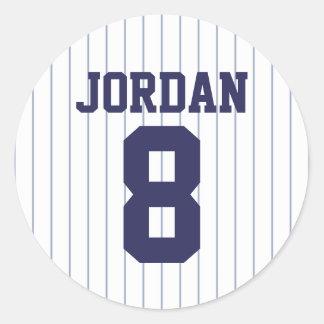 Baseball Jersey - sporttemafödelsedagsfest Runt Klistermärke