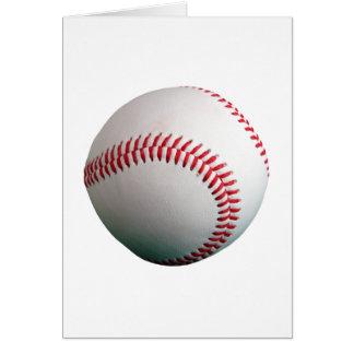 Baseball med rött sy hälsningskort