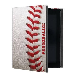 Baseball med rött sy och personlignamn iPad skydd