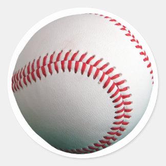 Baseball med rött sy runt klistermärke