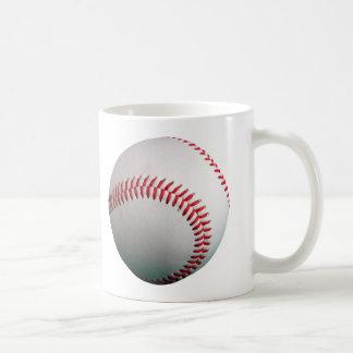 Baseball med rött sy vit mugg
