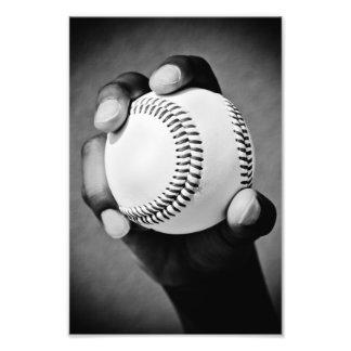 baseball räcker in fototryck