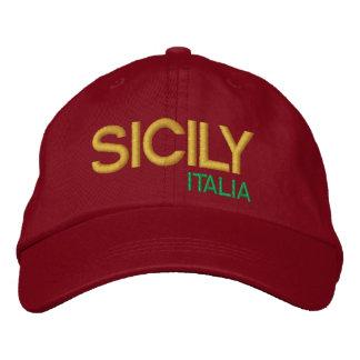 Baseball Sicilia för da för cappello för Sicily Broderad Keps