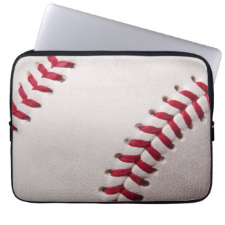 Baseball - skräddarsy baseballbakgrundsmallen laptop sleeve