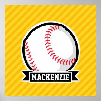 Baseball softball på gula randar
