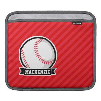 Baseball softball; Röda Diagonalrandar iPad Sleeve