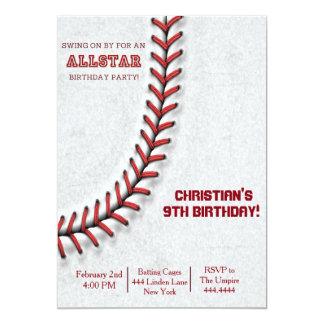 Baseball syr födelsedaginbjudningar 12,7 x 17,8 cm inbjudningskort