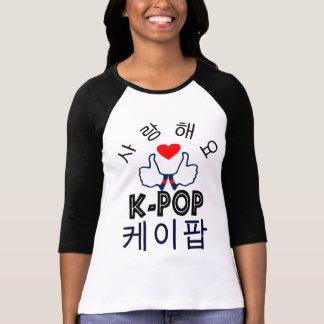baseball T-Shirt♥♫ för ♪♥LoveK-Pop stilfull Raglan
