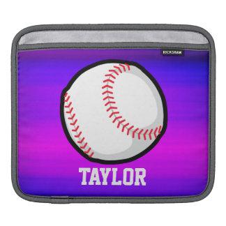Baseball, vibrerande violetta blått för softball sleeve för iPads