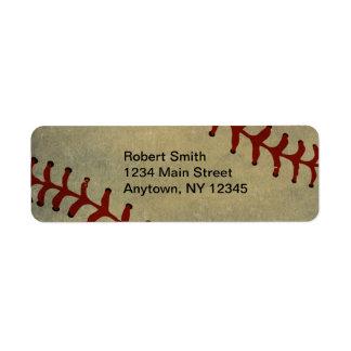 Baseballdesignreturetiketter Returadress Etikett