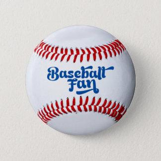 Baseballfläktgåvan knäppas standard knapp rund 5.7 cm