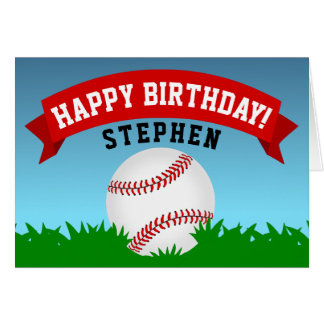 Baseballgrattis på födelsedagen OBS kort