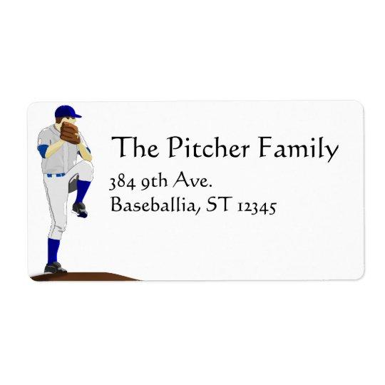 Baseballkannaetikett Fraktsedel