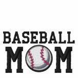 Baseballmamma Broderad Munkjacka