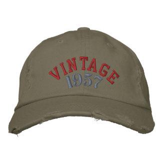 Baseballmössa för vintageårsanpassningsbar broderad keps
